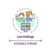live pollings concept pictogram vector