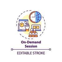on-demand sessie concept pictogram vector