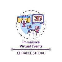 meeslepende virtuele evenementen concept pictogram vector