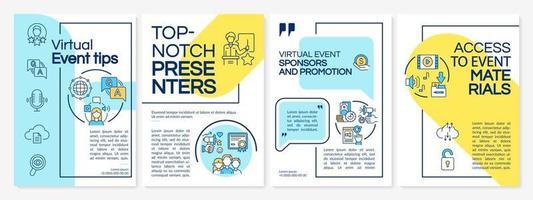 virtuele evenement tips brochure sjabloon