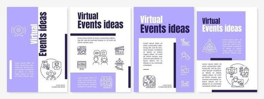 virtuele evenementen ideeën brochure sjabloon vector