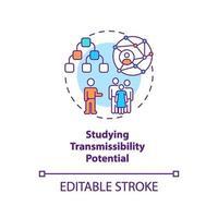 het bestuderen van overdraagbaarheid potentieel concept pictogram vector