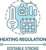 verwarming regelgeving concept pictogram vector