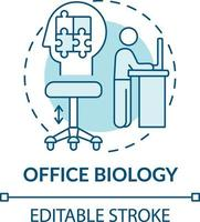 office biologie concept pictogram vector