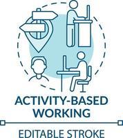 op activiteit gebaseerd werkconcept pictogram vector