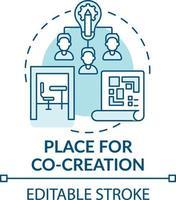 plaats voor co-creatie concept icoon vector
