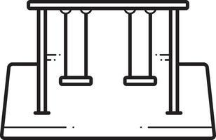 lijnpictogram voor schommels