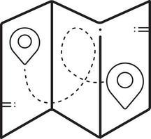 lijnpictogram voor kaarten