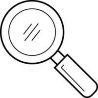 lijnpictogram voor zoeken vector