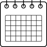 lijnpictogram voor agenda-app
