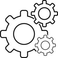 lijnpictogram voor instellingen