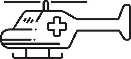 lijn pictogram voor medische luchtdienst vector