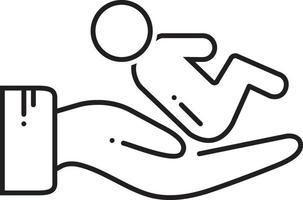 lijnpictogram voor postnataal