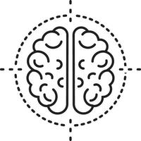 lijnpictogram voor neurochirurgie