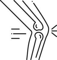 lijnpictogram voor orthopedie vector