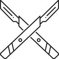 lijn pictogram voor chirurgie mes vector