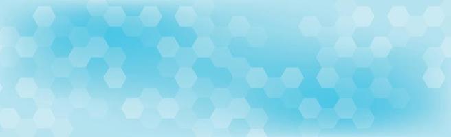 zeshoeken van verschillende grootte op een blauwe achtergrond - vector