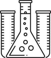 lijn pictogram voor reageerbuis
