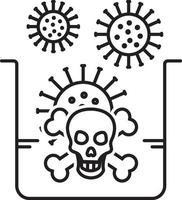 lijn pictogram voor gevaar vector