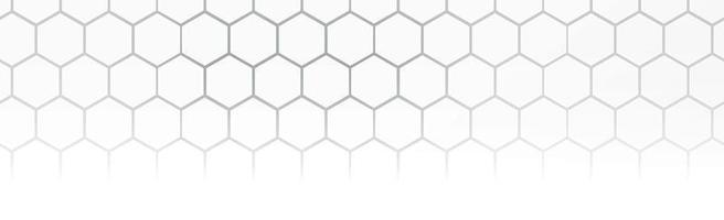 zeshoeken op grijze witte achtergrond - vector afbeelding