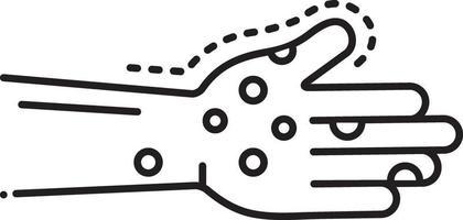 lijn pictogram voor infectie