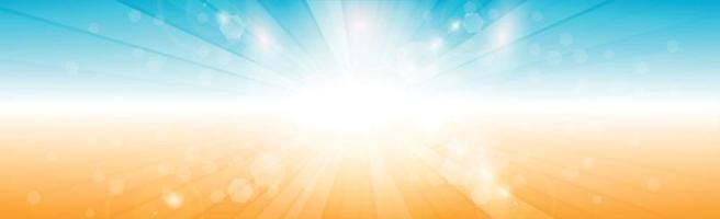 panoramische zonnige achtergrond in zachte blauwe kleur - afbeelding vector