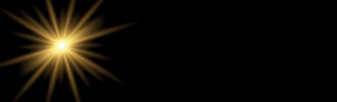 panoramische achtergrond zon op een zwarte achtergrond - afbeelding vector