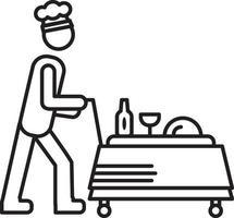 lijn pictogram voor foodservice vector