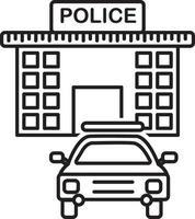 lijn pictogram voor wetshandhaving vector