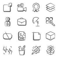 het ontwerpen van tools en elementen vector