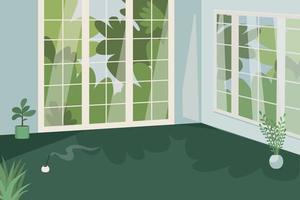 studio voor yoga egale kleur vectorillustratie