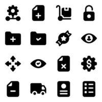 zakelijke icon set