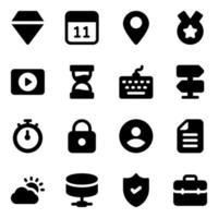 zakelijke elementen pictogramserie