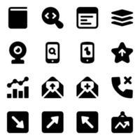 moderne technologie en communicatie-elementen