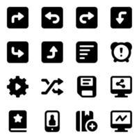 directionele pijlen en elementen