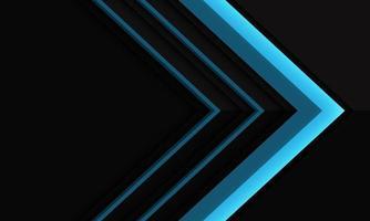 abstracte blauwe pijlrichting op zwarte metaalschaduw met lege ruimteontwerp moderne futuristische vectorillustratie als achtergrond. vector
