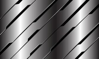 abstracte zilveren zwarte lijn circuit cyber geometrische schuine streep ontwerp moderne luxe futuristische technologie achtergrond vectorillustratie. vector