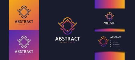 abstract beginletter a en v-logo met lijnconcept in kleurrijke verlopen voor bedrijfs- of technologie-logo's vector
