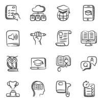 onderwijs en studie elementen pictogramserie