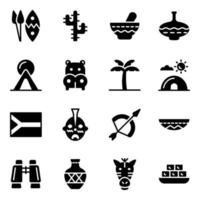 cultureel element van afrikaans vector