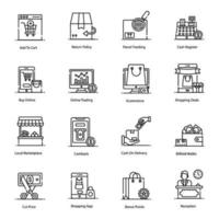 e-commerce en winkelen pictogramserie