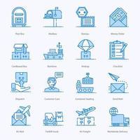 post- en vrachtdiensten pictogramserie
