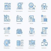 moderne bedrijfsbeheer pictogramserie vector