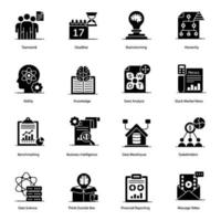 moderne projectmanagement elementen pictogramserie