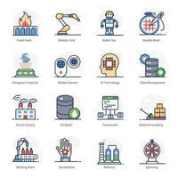 verzameling van fabrieksautomatisering vector