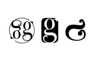 eerste g creatieve logo ontwerpsjabloon vector