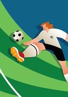 Engeland WK voetballer Vector