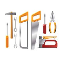 Realistische illustratie Workshop Tools