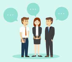 Mensen uit het bedrijfsleven praten met Buble vectorillustratie