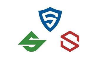 initial s creatieve logo set ontwerp inspiratie vector